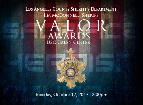 2017 LASD Valor Awards